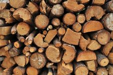 Free Stacked Firewood Royalty Free Stock Images - 16640669