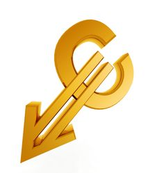 Free Gold Euro Symbol Of The Incident Stock Photography - 16641092