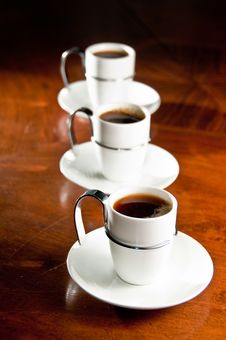Free Tree Cups Of Coffee Stock Photography - 16641312