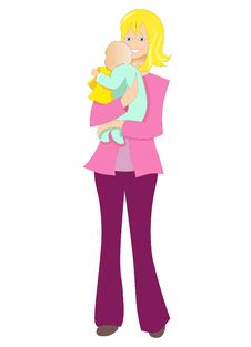Free Illustration Vector Of Woman Mum And Her Baby Royalty Free Stock Photography - 16641437