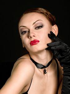 Free Fashion Model In Dark Stock Photos - 16641523