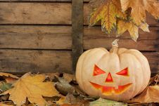 Free Halloween Creepy Pumpkin Royalty Free Stock Image - 16641776