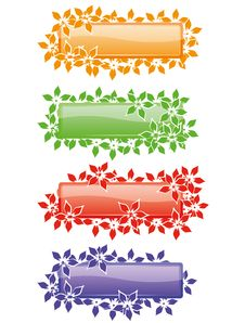 Free Nature Banners Covered With Flowers. Stock Photo - 16642200