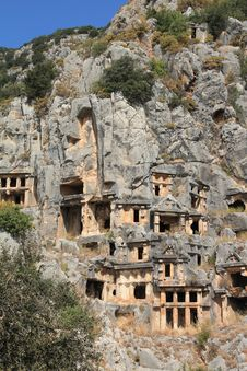 Free Lycian Tombs Stock Photography - 16642272