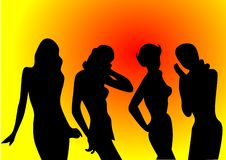 Free Illustration Vector Of Silhouettes Of Sexy Girls Stock Photo - 16642560