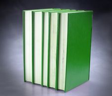 Set Of Green Books Stock Photo