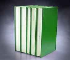 Free Set Of Green Books Stock Photo - 16642630