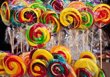 Free Colourfull Lollipops Royalty Free Stock Images - 16642659
