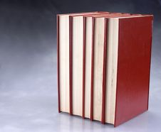 Set Of Red Books Stock Photo