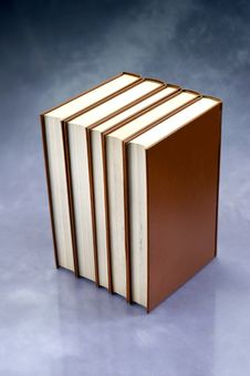 Set Of Red Books Stock Images