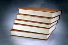 Set Of Red Books Royalty Free Stock Photo