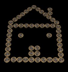 Free Euro Coins House Stock Images - 16643414