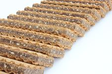 Free Wafer Cookies With Chocolate Stock Photo - 16643420