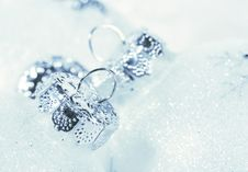 Free Frosted Decorations For Christmas Royalty Free Stock Photo - 16643875