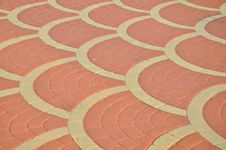 Brick Floor Tile Royalty Free Stock Photo