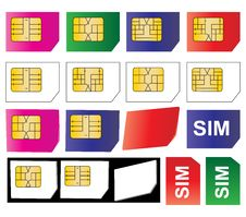 Free Sim Cards Royalty Free Stock Photos - 16645218