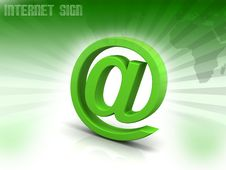 Free At Symbol Stock Photo - 16645690