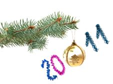 Free Spruce Twig With A Christmas Toy Stock Photography - 16645942