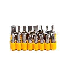 Set Of Various Heads Of Screwdriver. Royalty Free Stock Photography