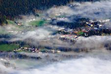Free Village Covered By Fog Stock Image - 16646091