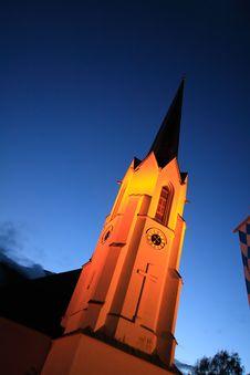 Free Church In Dawn Royalty Free Stock Image - 16646246