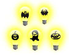 Free Halloween Light Bulbs Royalty Free Stock Images - 16646499