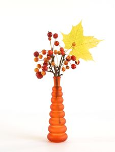Free Autumn Bouquet Of Branches With Small Apples Royalty Free Stock Photography - 16647337