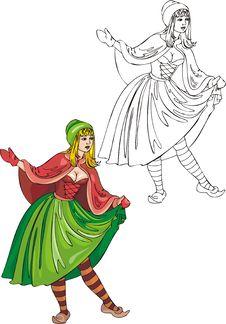 Free Fantasy Girls . Stock Image - 16647451