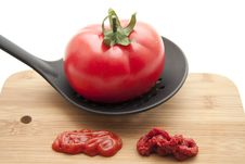 Free Tomato With Ketchup Royalty Free Stock Photo - 16647675