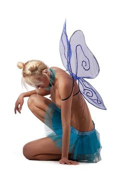Girl With Wings Royalty Free Stock Photography