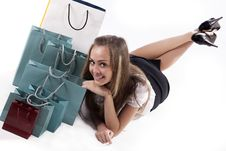 Free Woman Admiring Her Shopping Stock Photography - 16647852