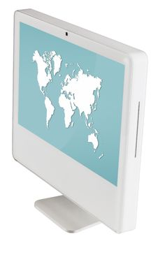 Monitor Isolated With Clipping Path Stock Images