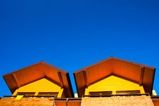 Free Part Of Yellow House Under The Blue Sky Royalty Free Stock Photography - 16649067