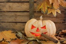 Free Halloween Creepy Pumpkin Smoking Cigar Royalty Free Stock Photos - 16649288