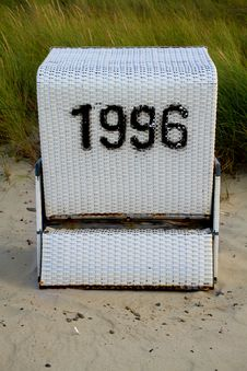 Free Beach Chair With Number 1996 Stock Image - 16649301