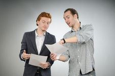 Free Young Team  Explaining Contract Royalty Free Stock Photo - 16649315