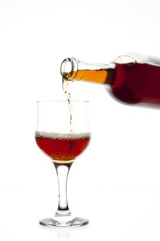 Free Red Wine Being Poured Royalty Free Stock Image - 16649356