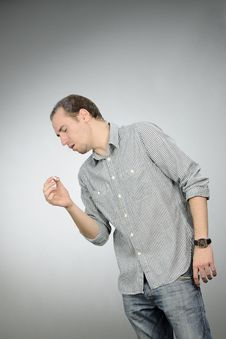 Free Young Man Caughing Stock Photography - 16649362