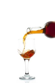 Free Red Wine Being Poured Stock Images - 16649364