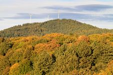 Free Wind Energy Mills Over Forest Stock Photo - 16649380
