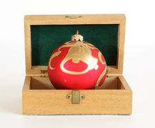 Free Christmas Decoration In A Wooden Box Royalty Free Stock Photo - 16649505