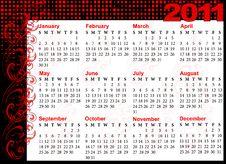 Free Calendar For 2011 Royalty Free Stock Photos - 16649528