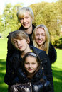 Free Happy Family Have Fun In Park Stock Photography - 16650102