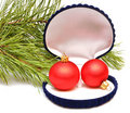 Free Christmas Balls In Small Box For A Gift Royalty Free Stock Photography - 16652387