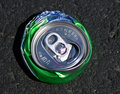 Free Top View Of Crushed Aluminum Soda Can Royalty Free Stock Image - 16659476