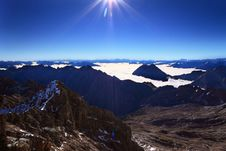 Free Peak Of Mountain In Sunshine Stock Photo - 16650000