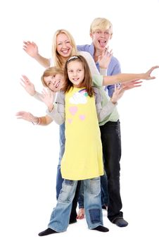Free Group Of Young And Beautiful Teens Stock Image - 16650021
