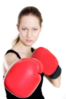 Free Young Female Boxer Royalty Free Stock Image - 16650126