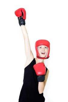 Free Young Female Boxer Royalty Free Stock Photos - 16650148