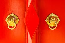 Chinese Door Handle Knocker Royalty Free Stock Image